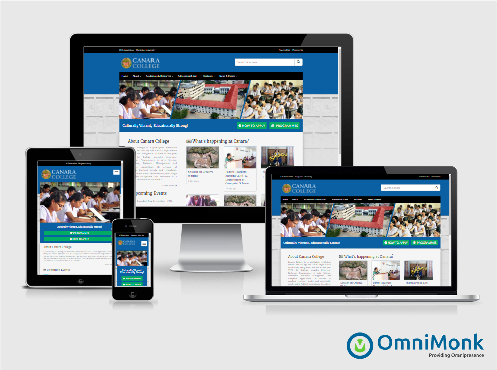Responsive Website for Canara College