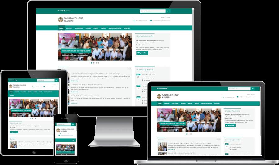 Minimalistic Responsive Website Design for Canara College Alumni