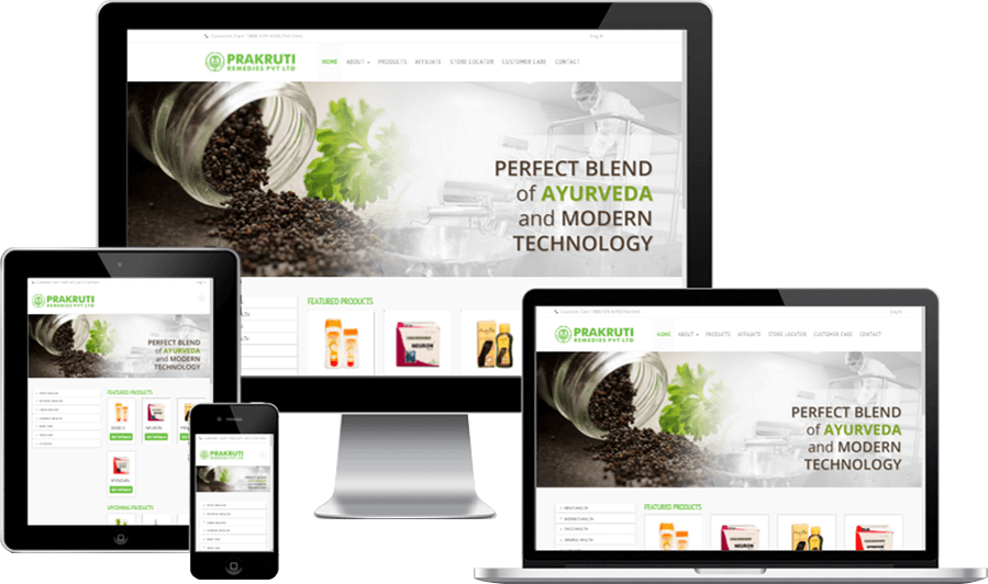 Responsive Website Design for Prakruti Remedies