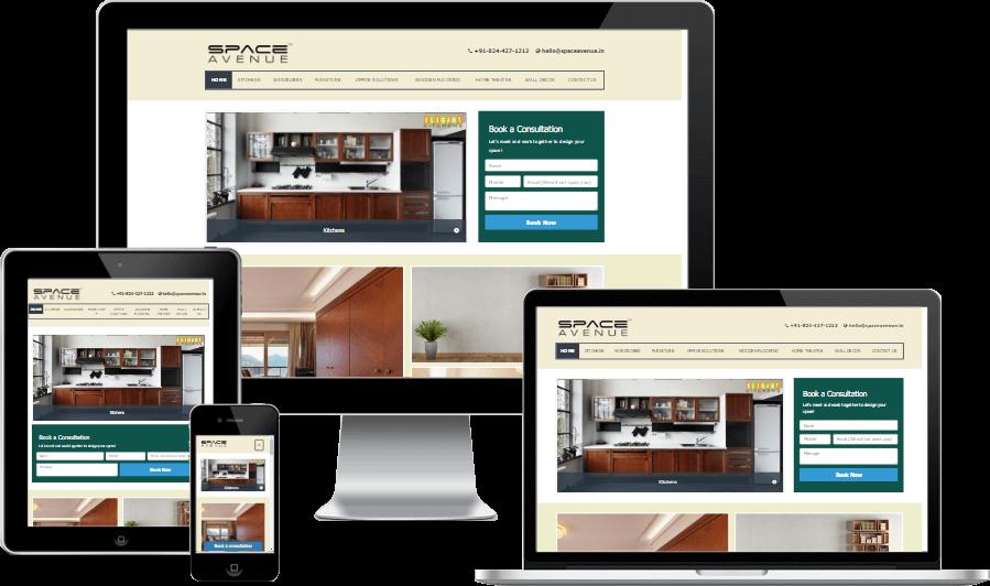 Minimalistic Responsive Website Design for Space Avenue