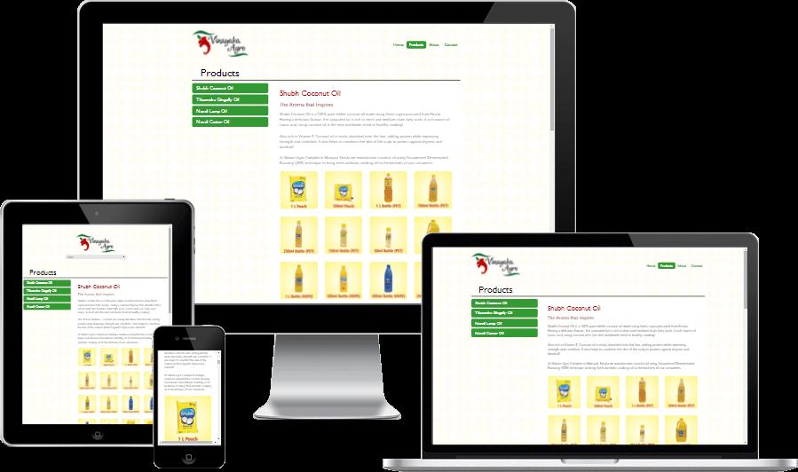 Simplistic Responsive Website Design for Vinayaka Agro