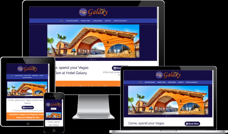 Minimalistic Responsive Website Design for Hotel Galaxy Las Vegas