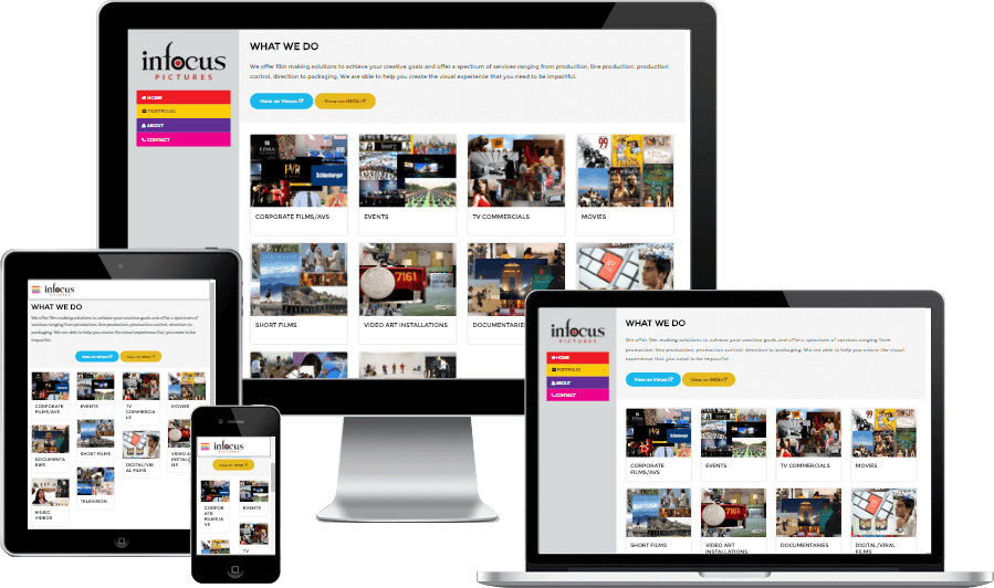 CMS Enabled Responsive Portfolio Website for In Focus Pictures