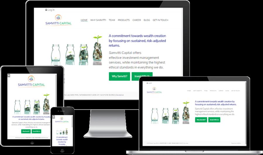 Minimalistic Responsive Website Design for Samvitti Capital